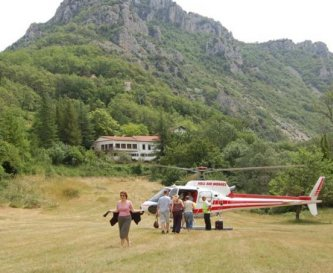 Heli-transfer from Nice - good value & 5 mins!