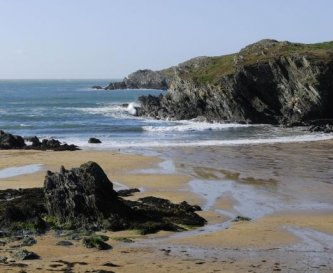 Porthdafarch beach is close to Blackthorn Farm