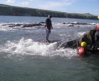 Coasteering at Abereiddy