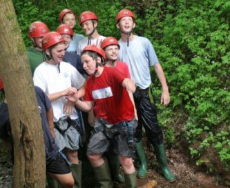A group taking part in 'The Dingle Scramble'