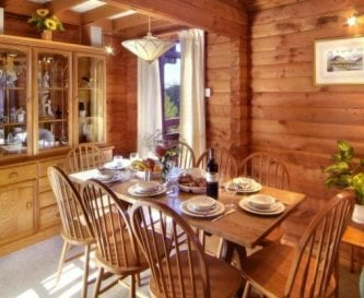 Dining area in one of the lodges