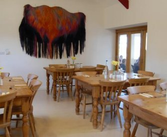 Group Dining Room in the Aeron Barn