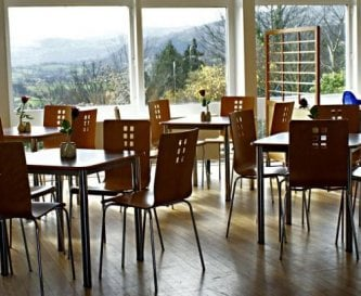 Spacious dinning room- amazing view of Snowdonia