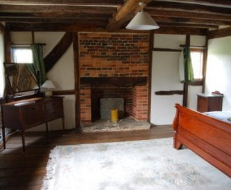 Historic fireplace in the East Bedroom