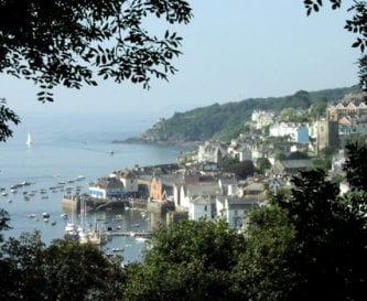 The vibrant town of Fowey is a short drive away