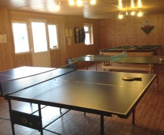 Games room with pool,darts,ping pong open all day