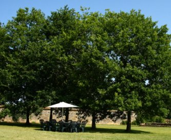The 2 acre private garden for games and BBQ's