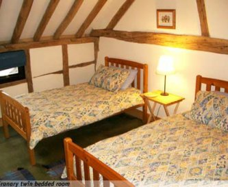 Granary twin bedded room.