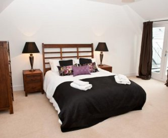 Master bedroom with space for extra beds