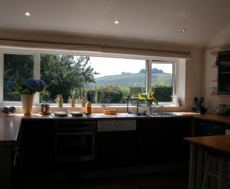 View from Kitchen towards the Downs