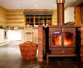 Log burners in each cabin for your guests