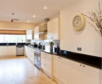 Amazing fitted kitchen for group catering