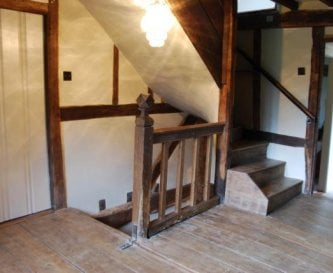 Mediaeval timbers in the oldest part of the house