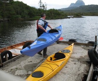 Part of the extensive fleet of kayaks available