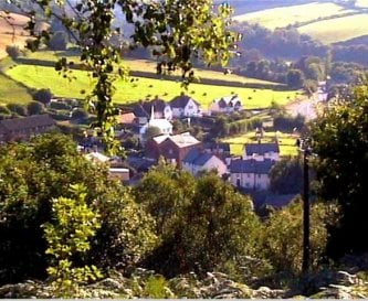 Timberscombe from the woods above house