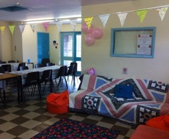 The common room upstairs