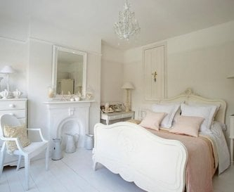 Shell pink bedroom