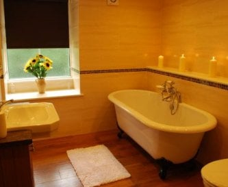 Bathroom in house