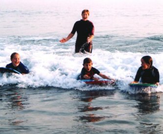 Body boarding fun!