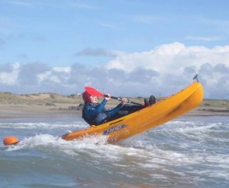 Surfing on the North Wales coast