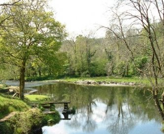 The nearby Teifi river