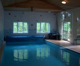 the indoor heated pool is always a great hit