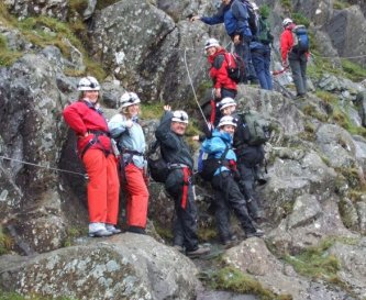 The Via Ferrata at Honister Slate Mine
