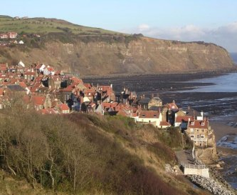 View of Robin Hoods Bay from the Cleveland Way