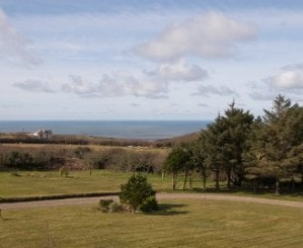 Views to sea from bedrooms