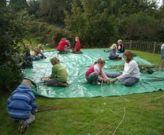 Willow Weaving in the centre grounds