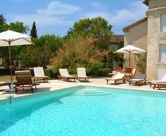 Large heated swimming pool, can be enjoyed May-Oct