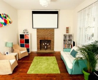 Cinema room/ Lounge at far end (unseen)