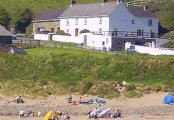 Nolton Haven Farmhouse from the beach